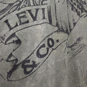 Levi's Shirts - Levi green Acid Wash Short Sleeve Graphic Shirt